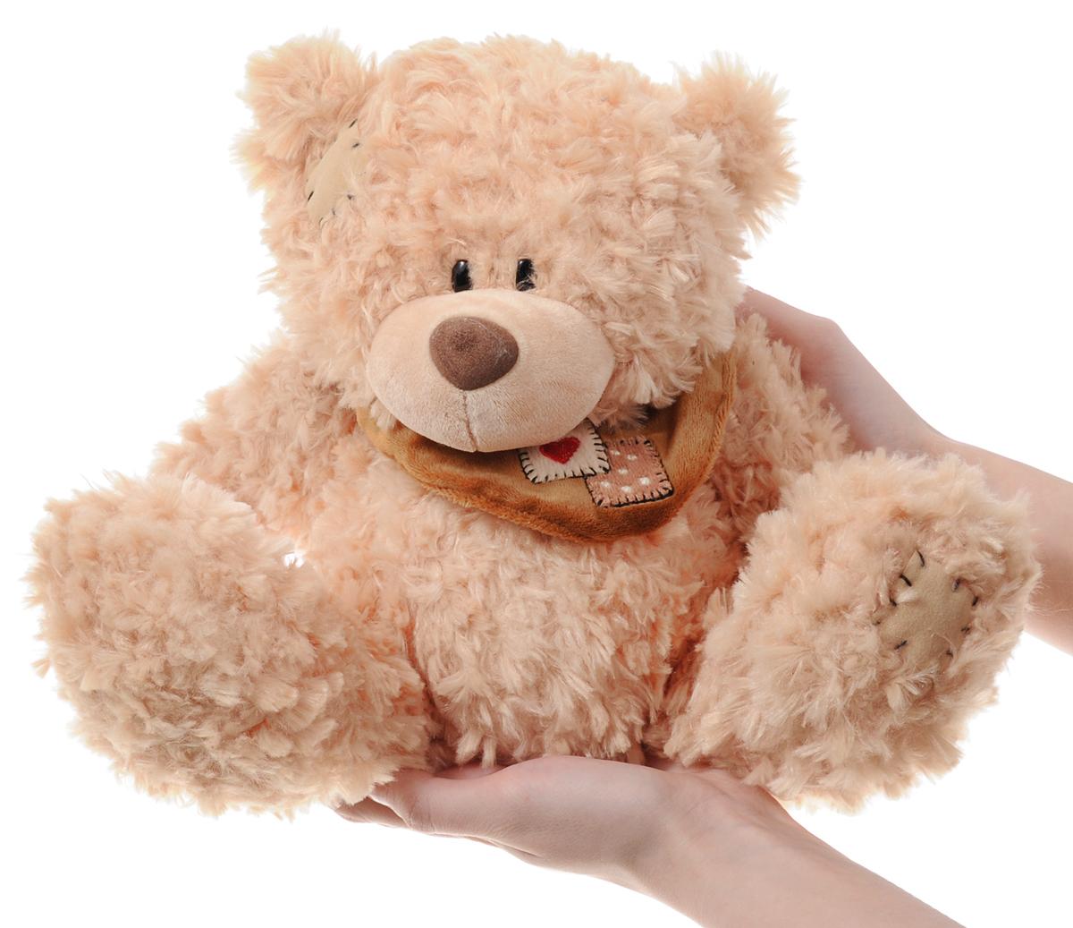 Plush Apple Мягкая игрушка Медведь с шарфом 25 см
