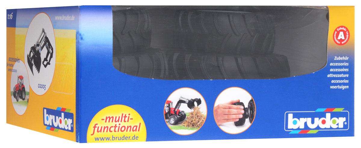 Bruder Шины для системы сдвоенных колес с белыми дисками 4 шт