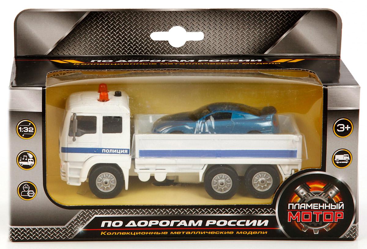 Пламенный мотор Машина Полиция Эвакуатор