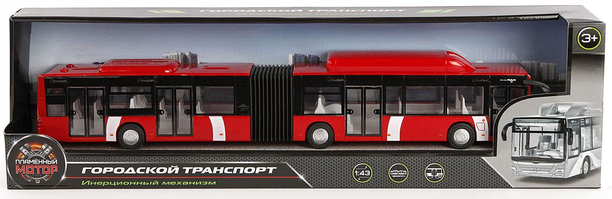 Пламенный мотор Автобус городской MAN цвет красный