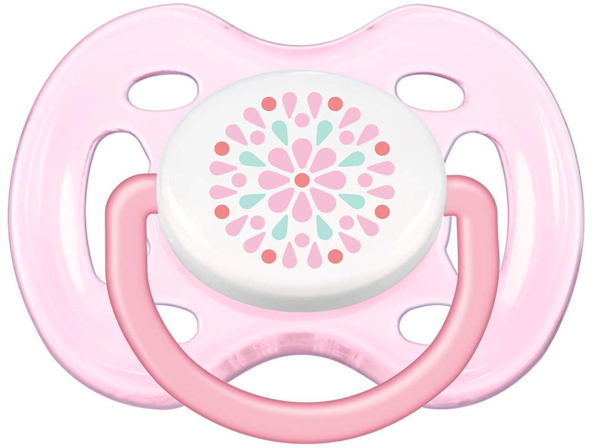 Philips Avent Пустышка силиконовая Freeflow цвет розовый от 0 до 6 месяцев 2 шт SCF180/23