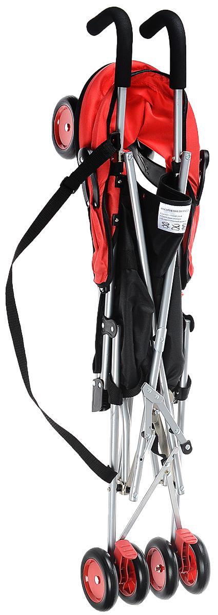 Melogo Детская коляска цвет красный коричневый