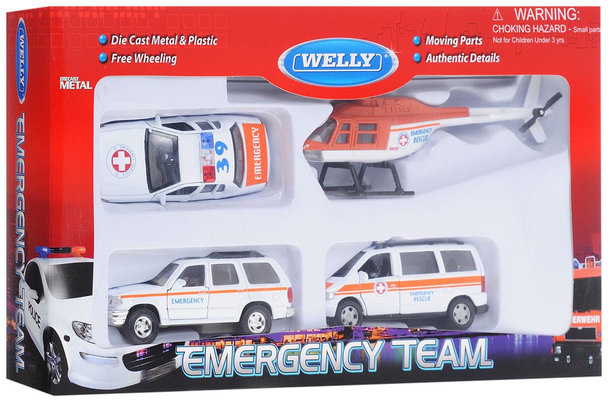 Welly Игровой набор Служба спасения Скорая помощь 4 предмета