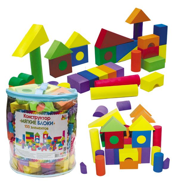 Мозаичный парк Конструктор Мягкие блоки
