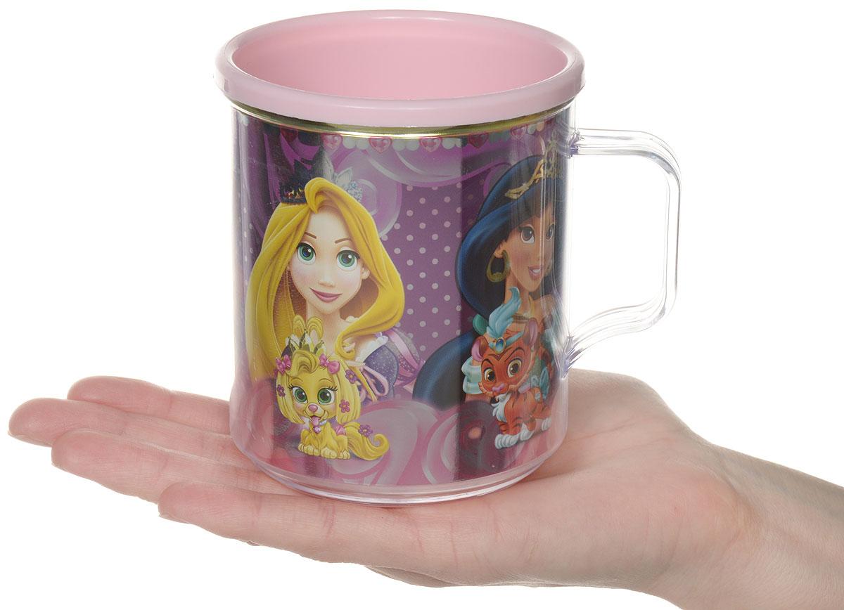 Disney Термокружка детская Принцессы Королевские питомцы цвет розовый 350 мл