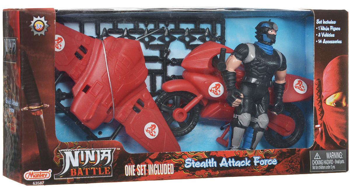 Manley Игровой набор Ninja Battle с самолетом