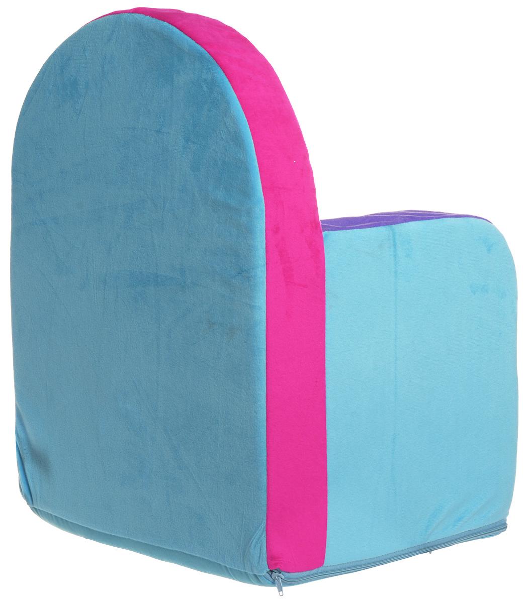 СмолТойс Мягкая игрушка Кресло Маша и Медведь цвет голубой 54 см ( 2021/ГЛ-2/53 )