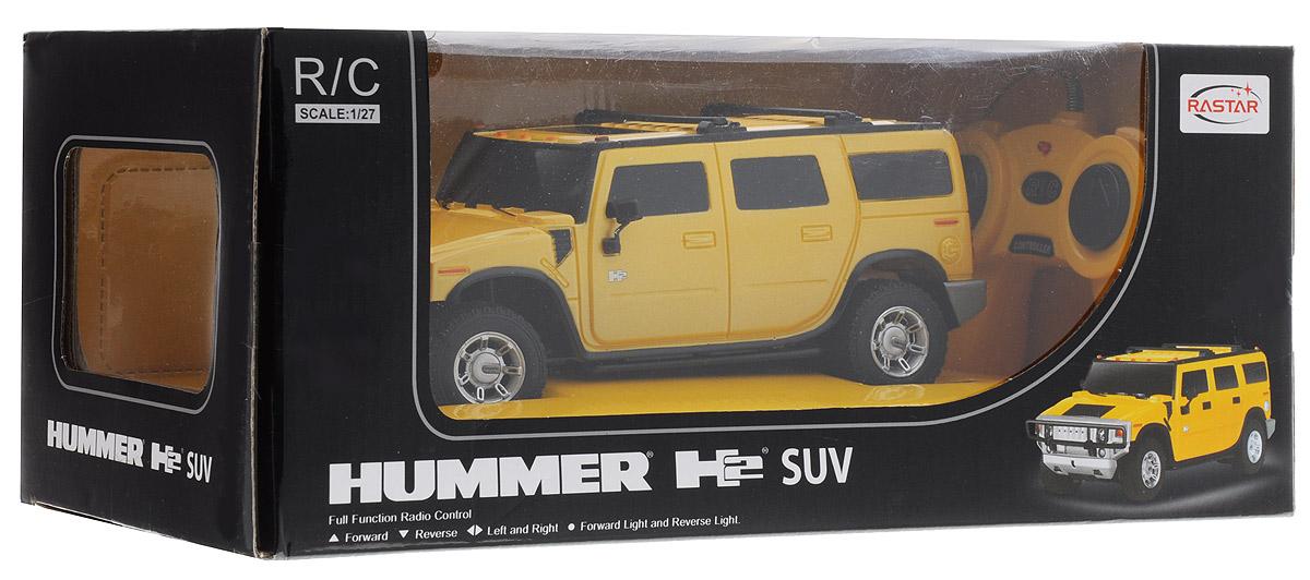 Rastar Радиоуправляемая модель Hummer H2 цвет желтый масштаб 1:27