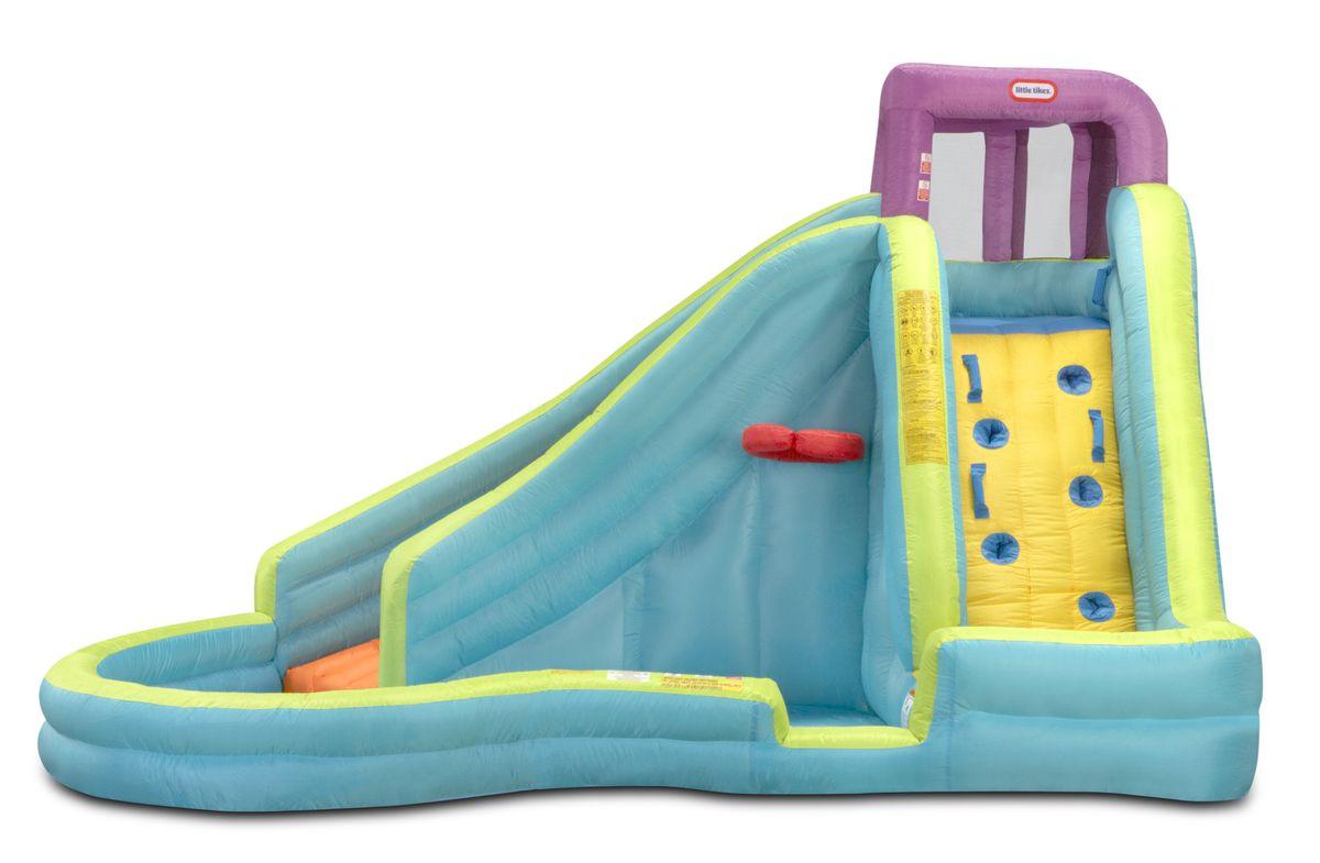 Little Tikes Игровой надувной комплекс Slam'n Curve Slide