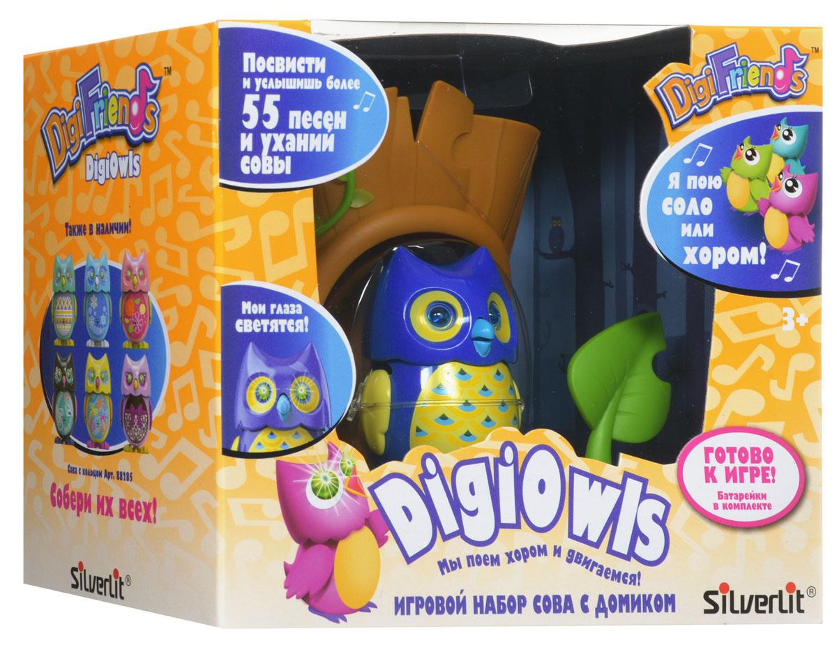 DigiFriends Интерактивная игрушка Сова с домиком цвет синий желтый