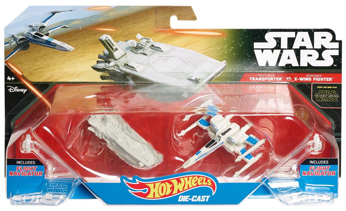 Hot Wheels Звездные корабли Transporter vs X-Wing Fighter