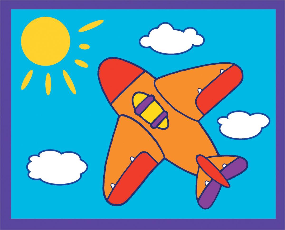 Самолет из цветной бумаги