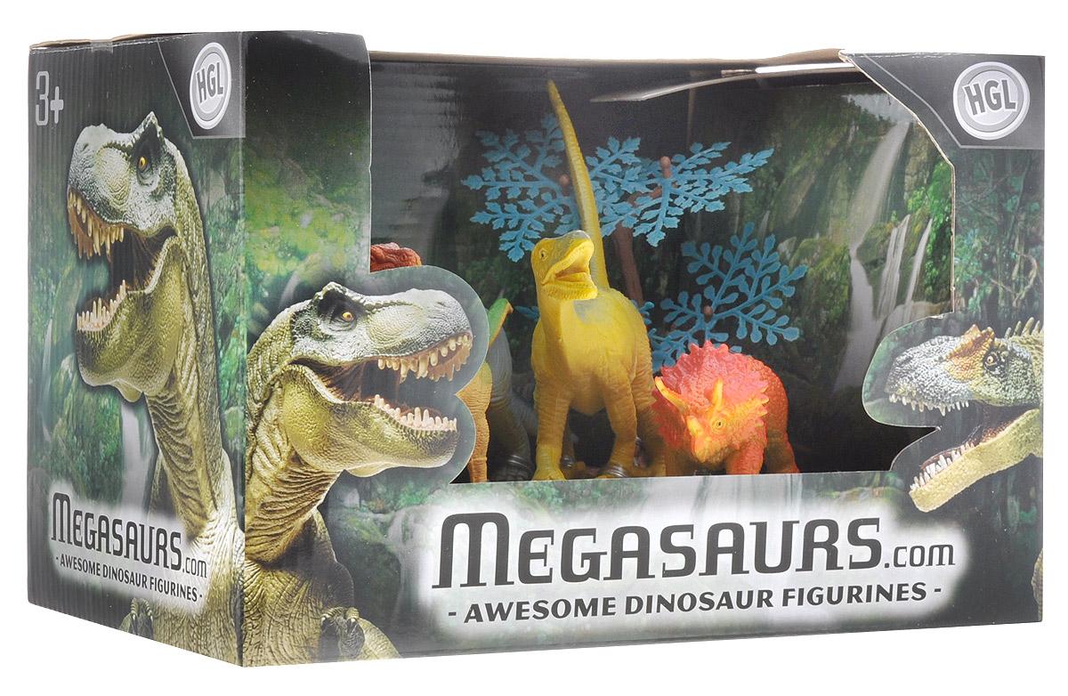 Megasaurs Набор фигурок Динозавры цвет оранжевый желтый серый 5 шт