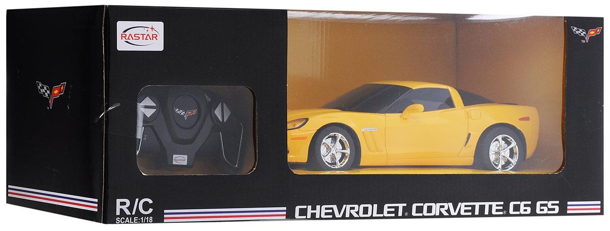 Rastar Радиоуправляемая модель Chevrolet Corvette C6 GS цвет желтый масштаб 1:18