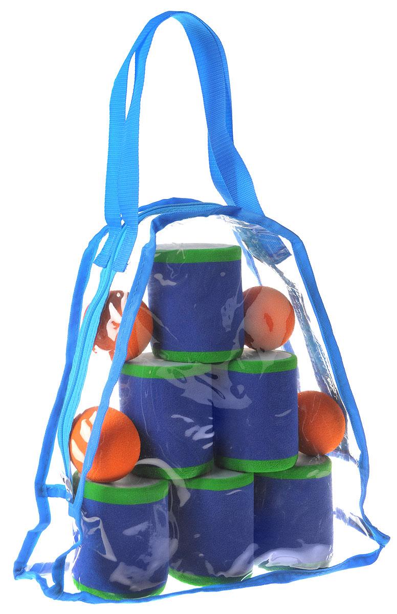 Safsof Игровой набор Городки цвет синий зеленый оранжевый