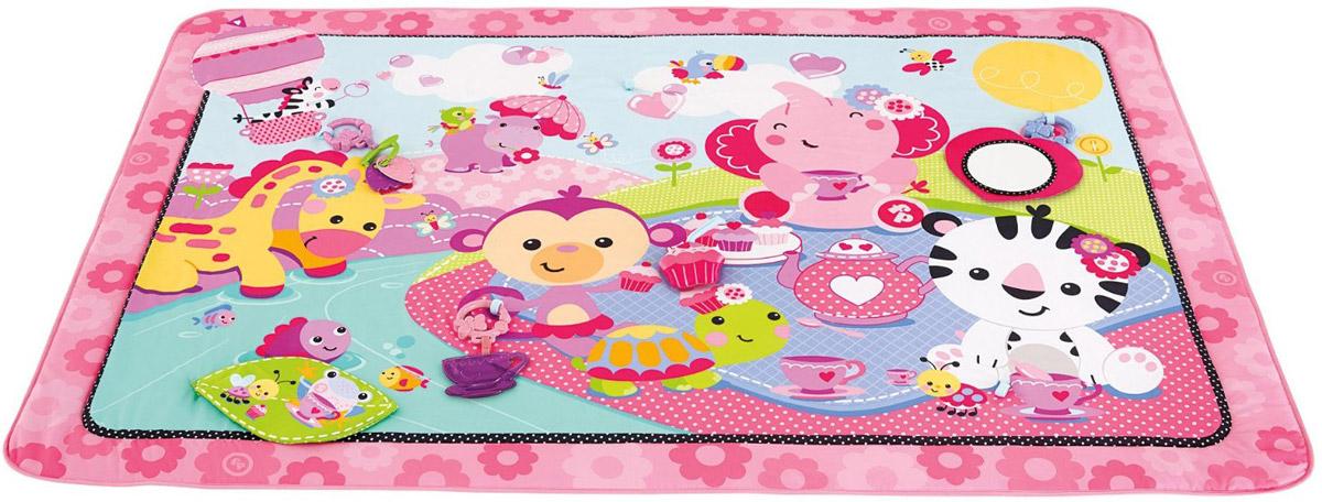 Развивающий коврик розовый fisher price