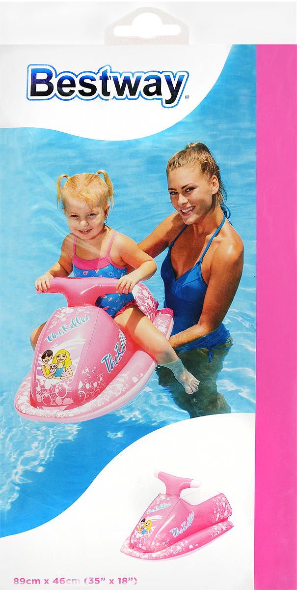 Bestway Надувной скутер цвет розовый