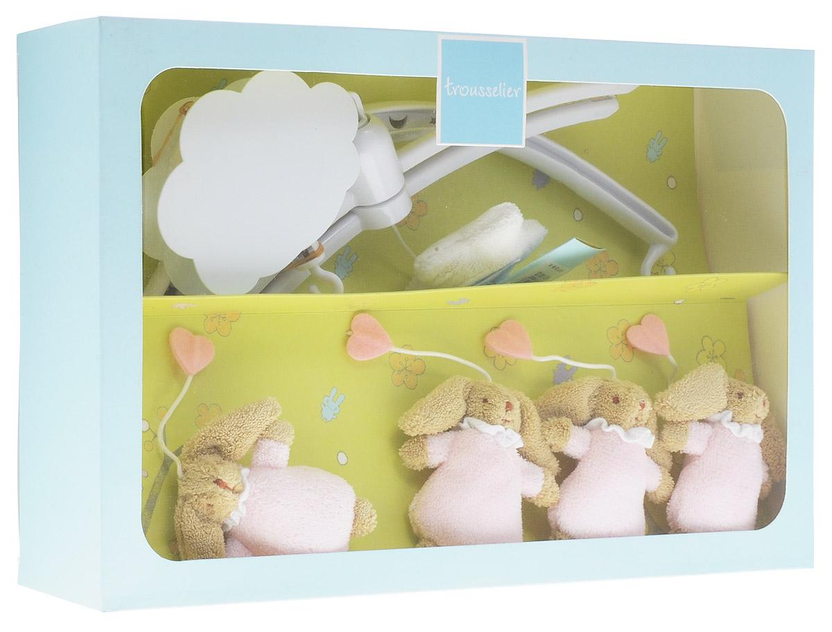 Trousselier Музыкальный мобиль Кролики цвет розовый