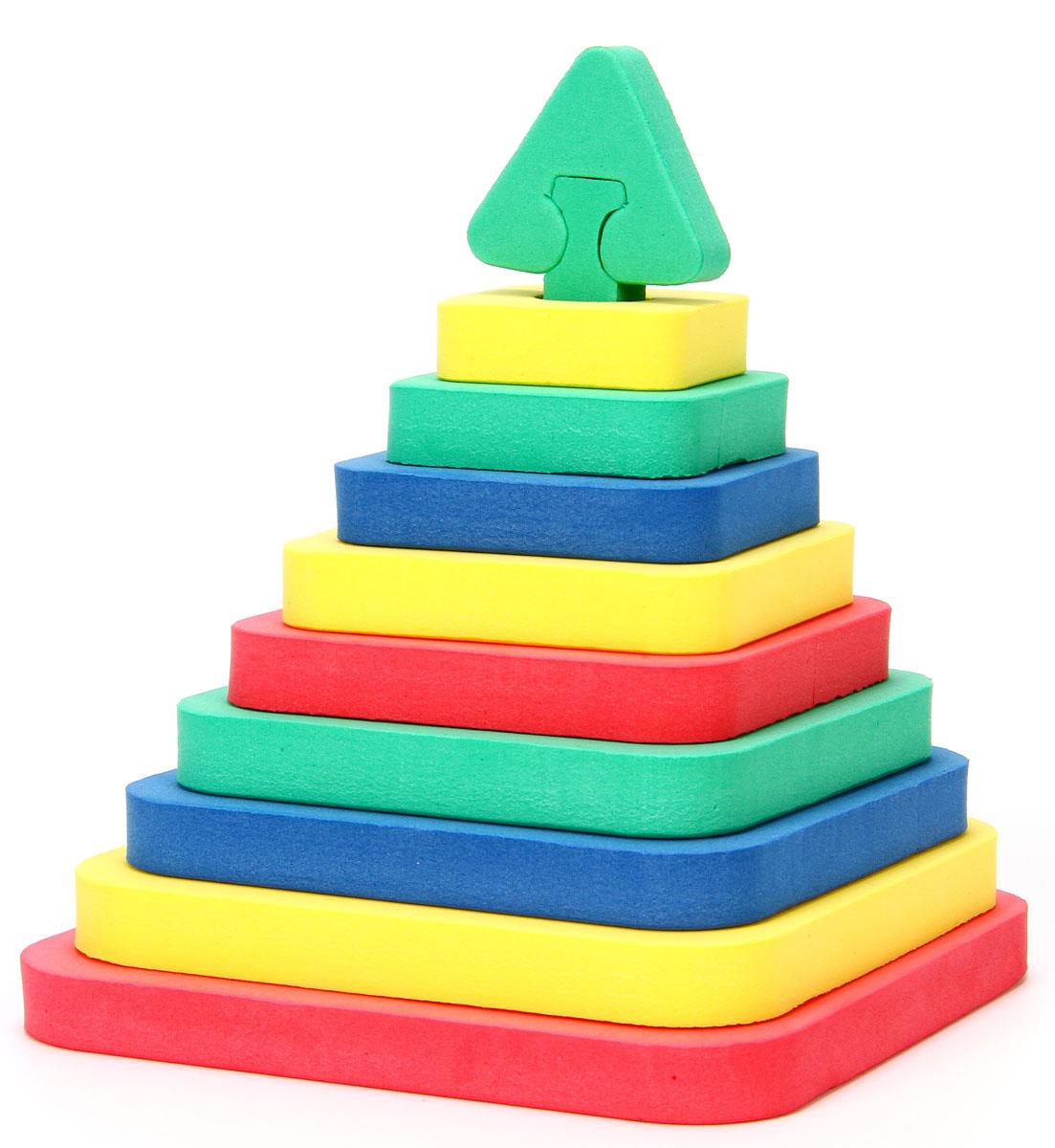 Бомик Мягкий конструктор Пирамида-квадрат