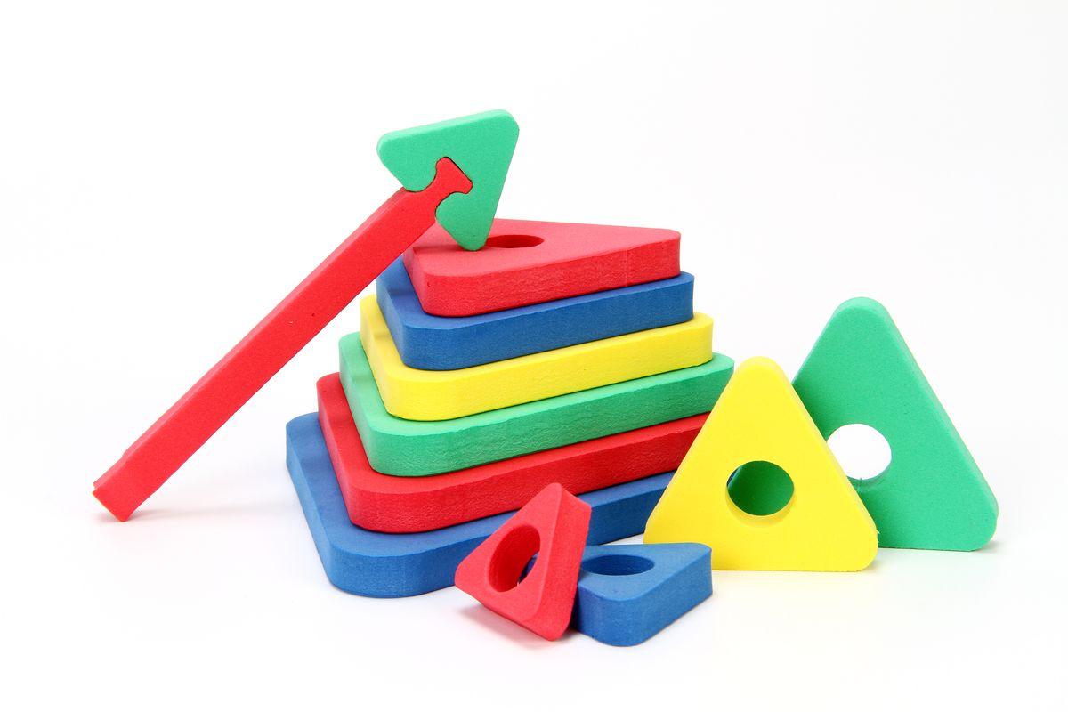 Бомик Мягкий конструктор Треугольная пирамида