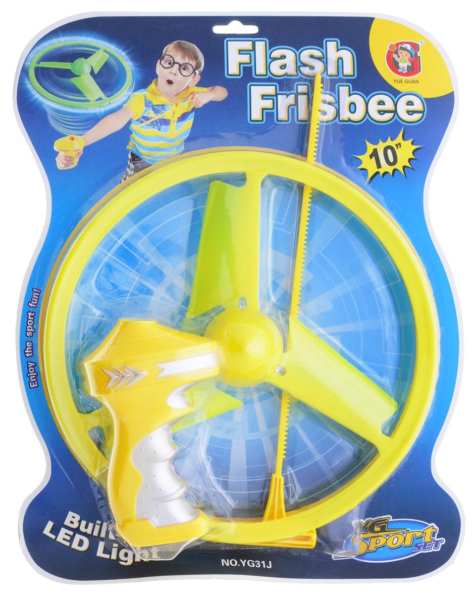 YG Sport Летающий диск с подсветкой цвет желтый