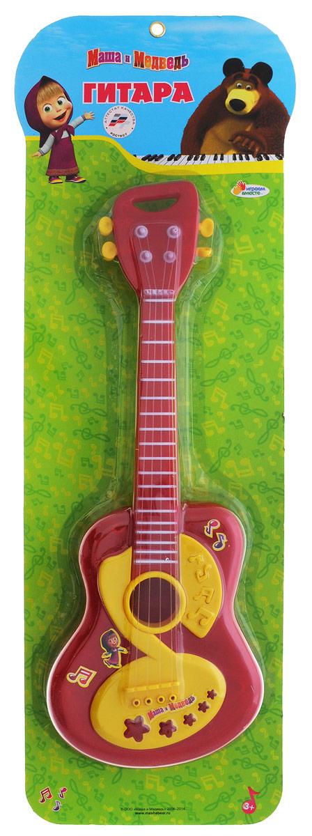 Играем вместе Гитара Маша и Медведь цвет темно-красный