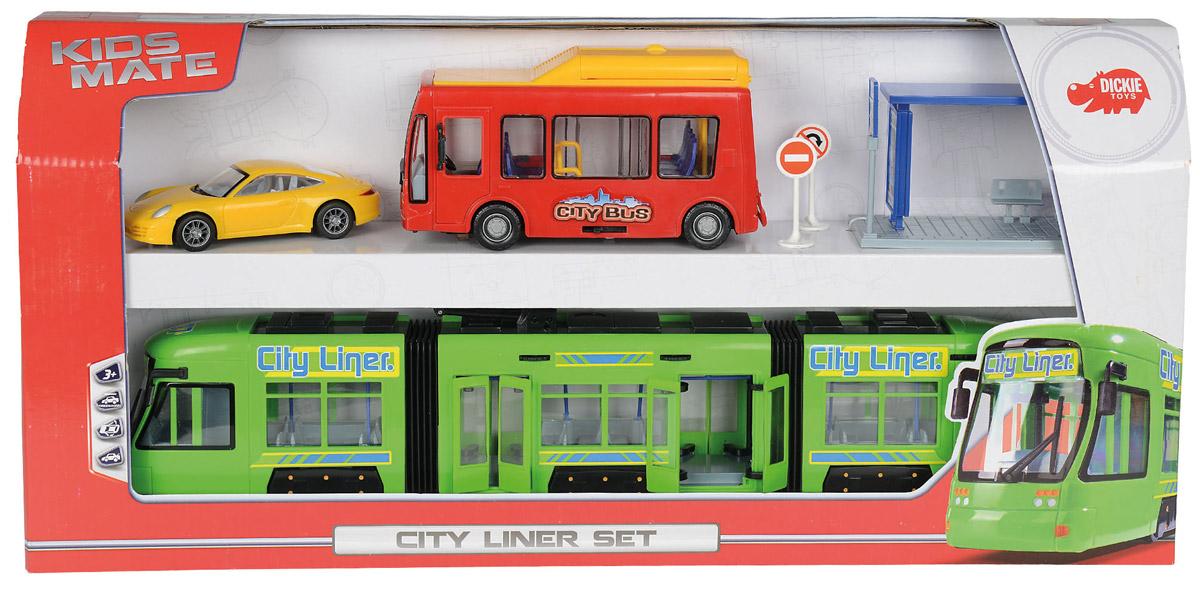 Dickie Игровой набор City Liner Set