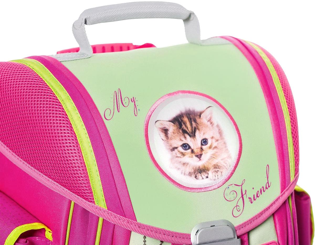 Belmil Ранец школьный Cats цвет салатовый розовый
