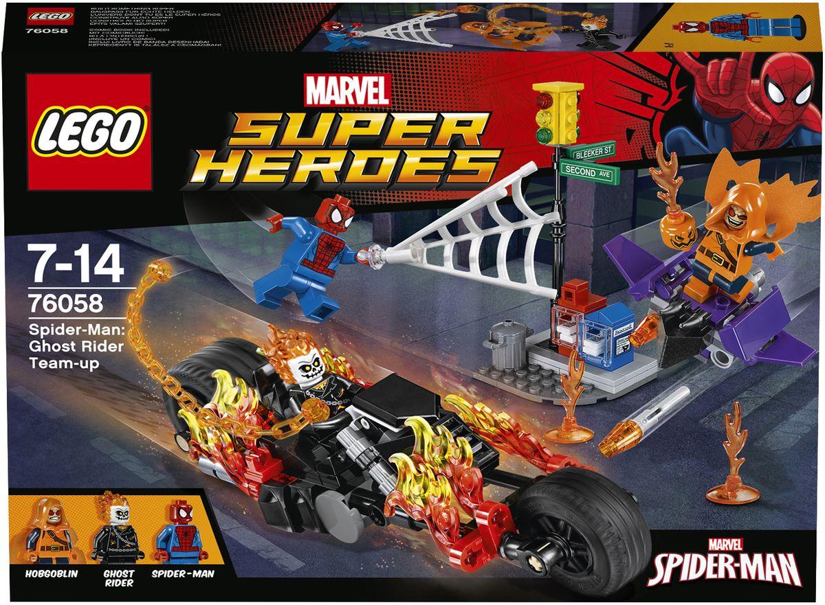 LEGO Super Heroes Конструктор Человек-паук Союз с Призрачным гонщиком 76058