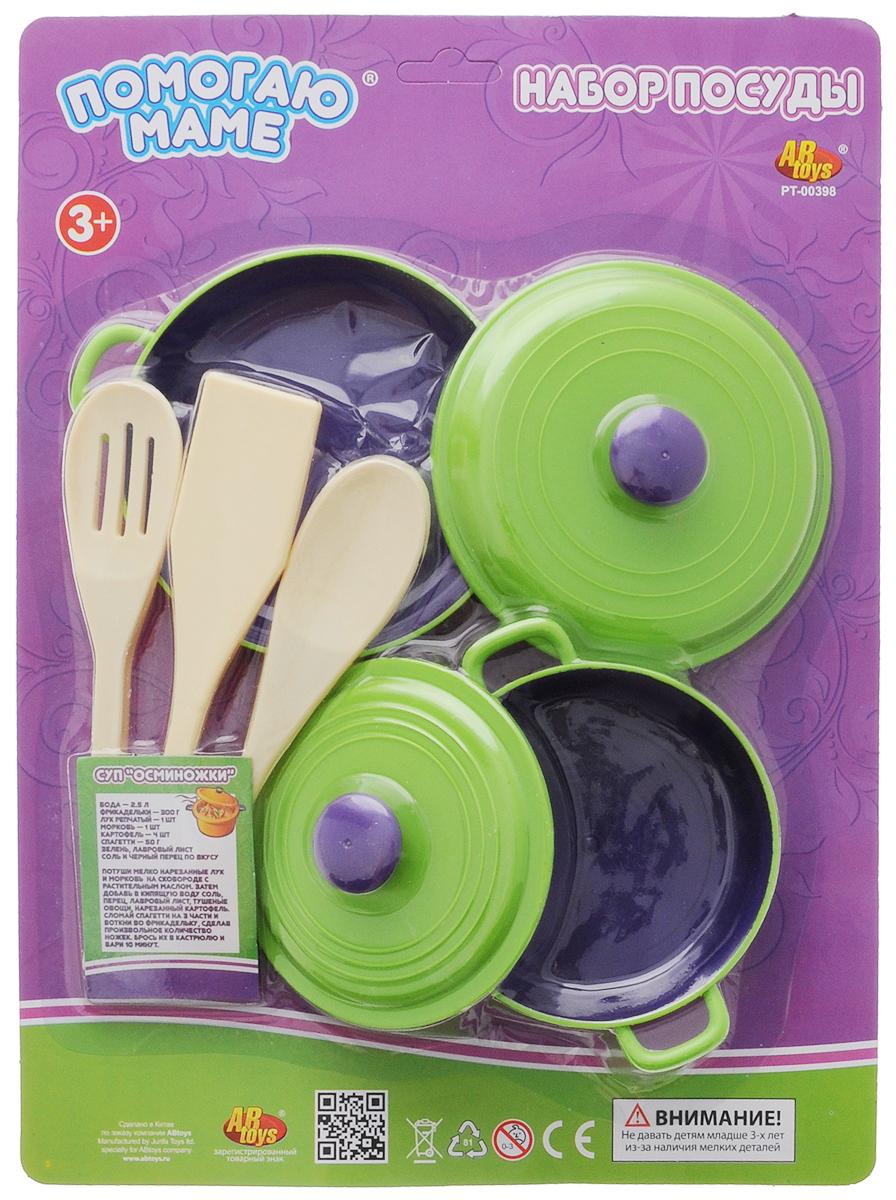 ABtoys Игрушечный набор посуды 5 предметов