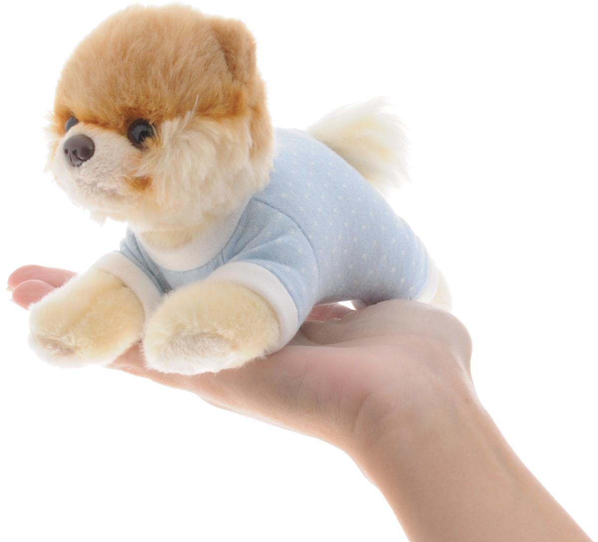 Gund Мягкая игрушка Boo цвет голубой 16 см
