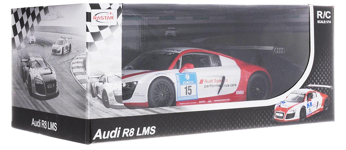Rastar Радиоуправляемая модель Audi R8 LMS цвет белый красный масштаб 1:14