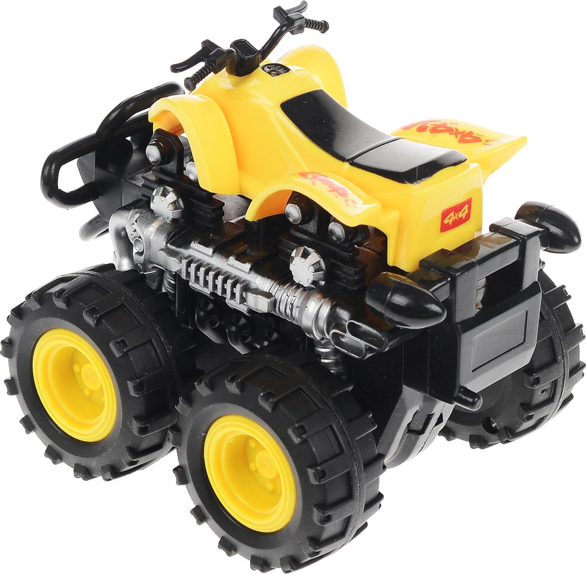 Big Motors Квадроцикл инерционный 4 WD цвет желтый