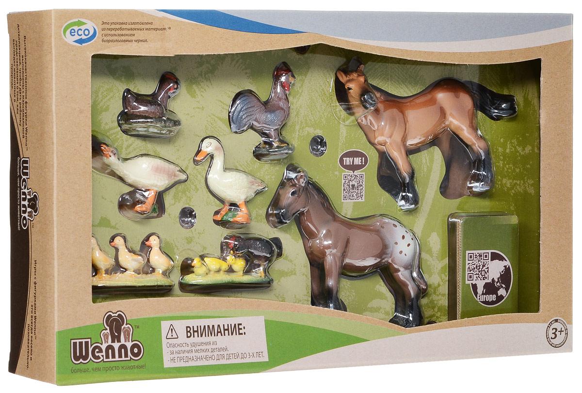 Wenno Набор фигурок Животные европейской фермы 8 шт