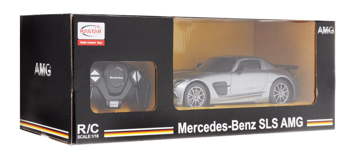 Rastar Радиоуправляемая модель Mercedes-Benz SLS AMG цвет серебристый масштаб 1:18
