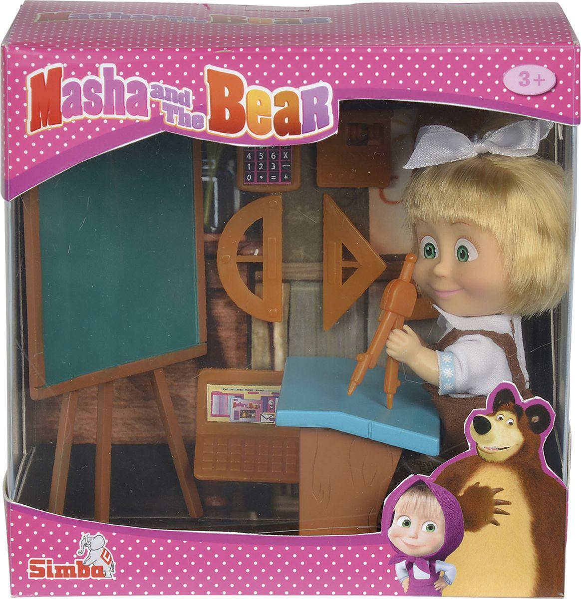 Simba Кукла Маша в школьной форме с аксессуарами, 12 см