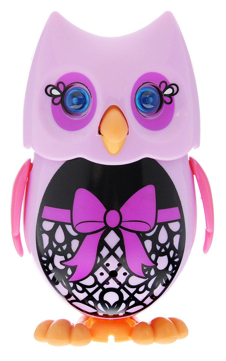 DigiBirds DigiFriends Интерактивная игрушка Сова с кольцом цвет сиреневый черный розовый
