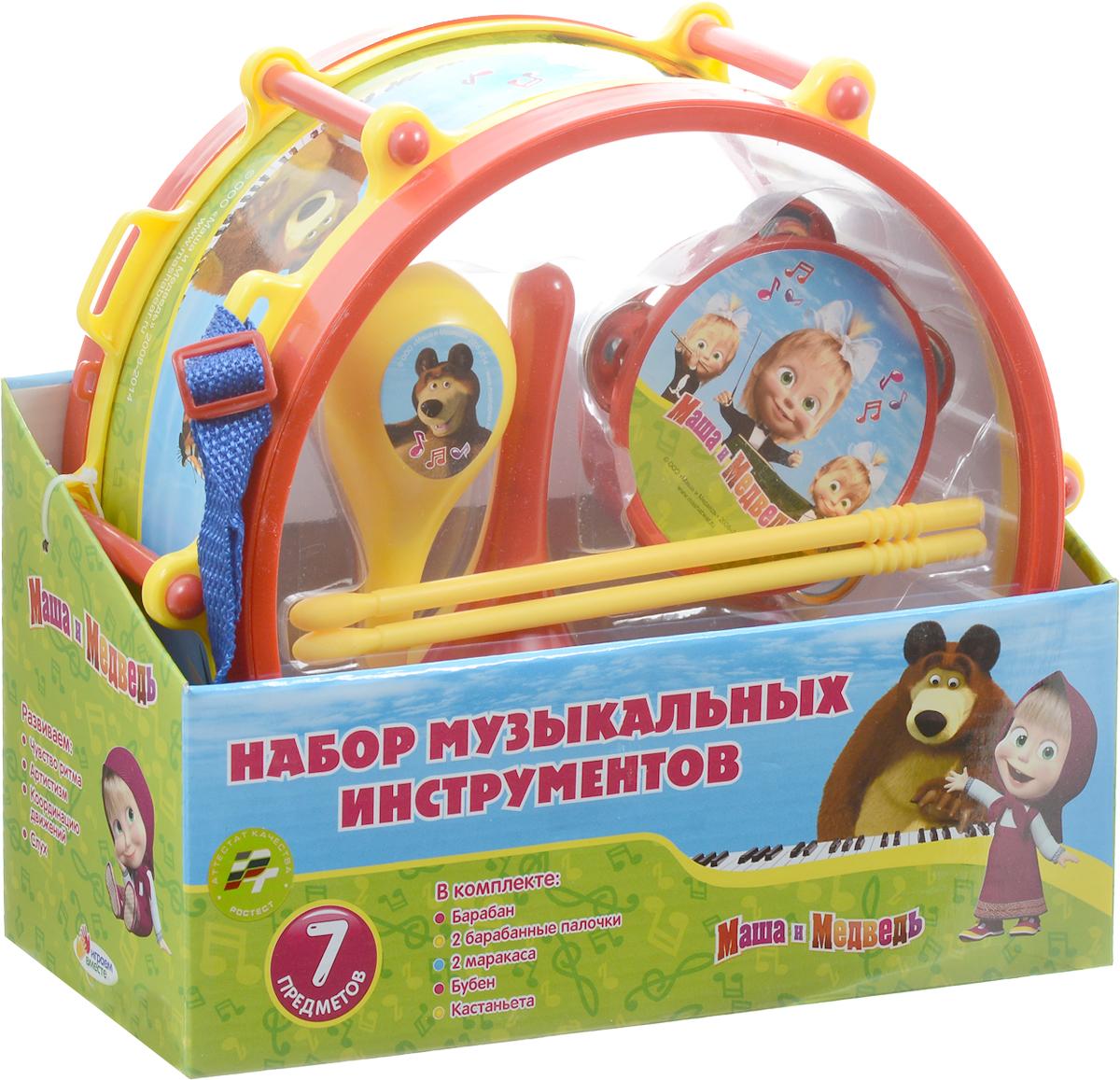 Играем вместе Набор музыкальных инструментов Маша и Медведь 7 предметов