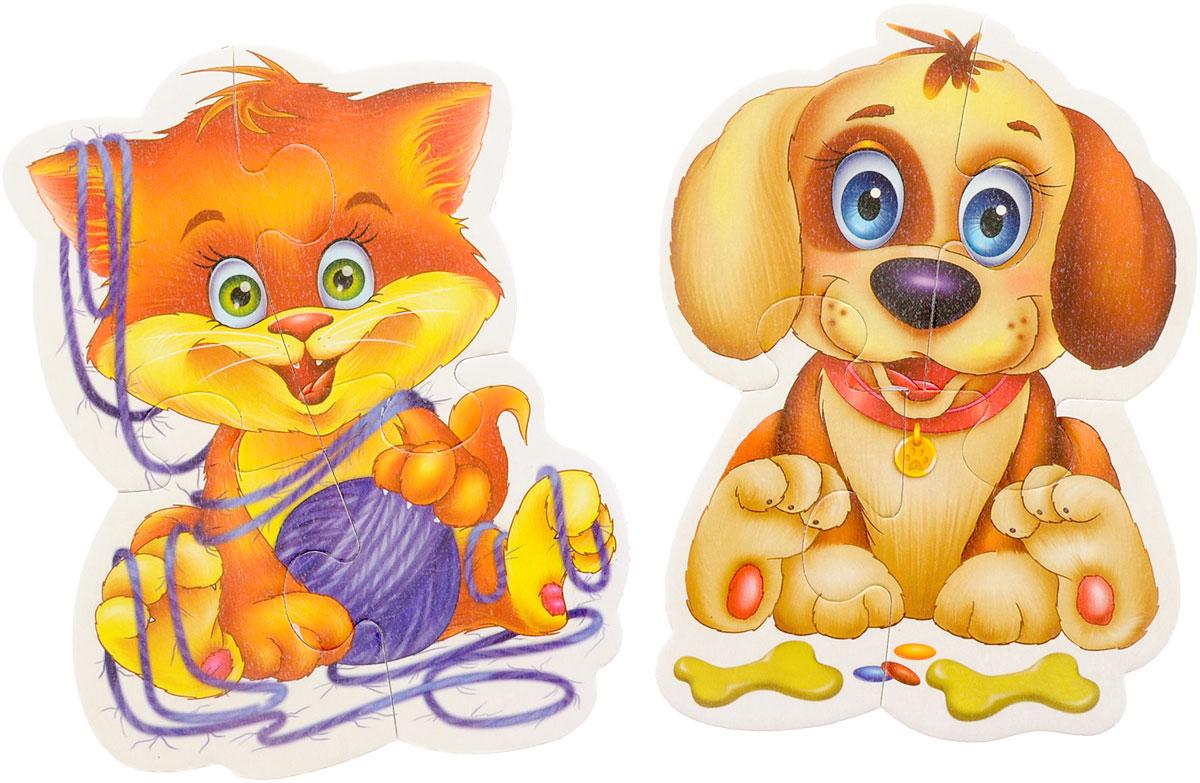 Vladi Toys Пазл для малышей Домашние любимцы 2 в 1
