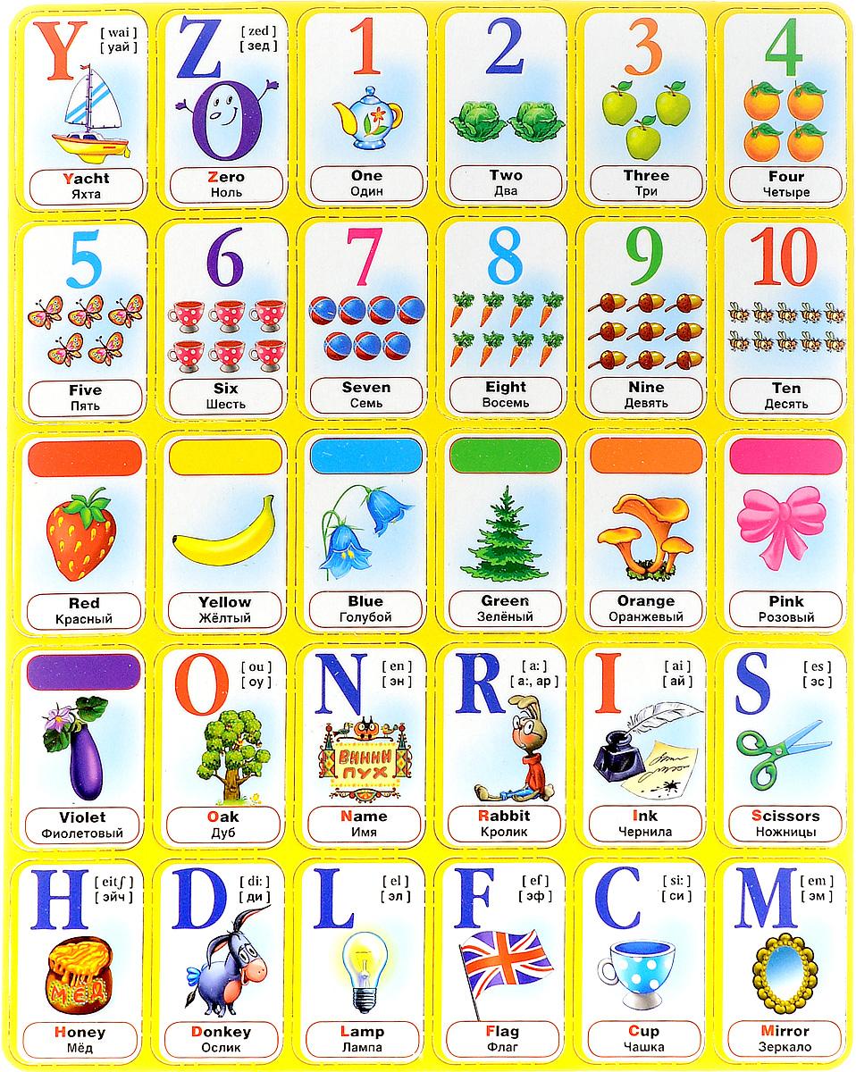 Умка Обучающий плакат Английский алфавит с Винни-Пухом