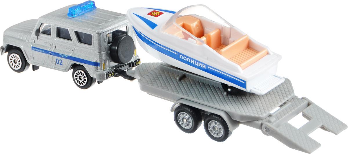 машинка с лодкой прицеп
