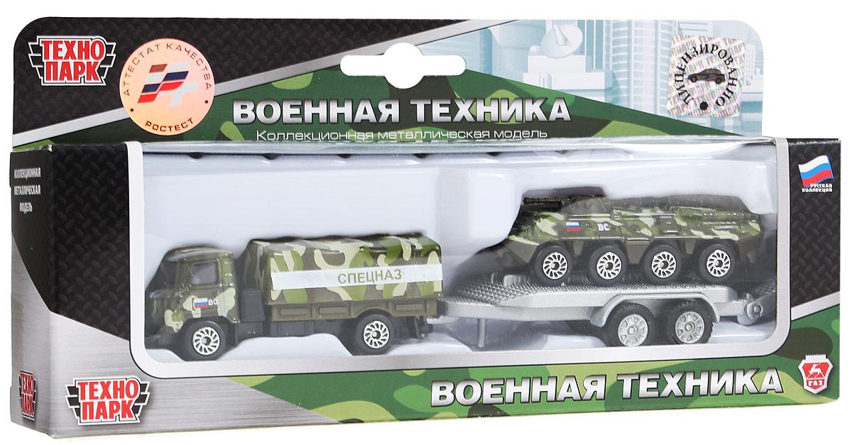 ТехноПарк Набор машинок Военная техника Грузовик с прицепом и бронетранспортер 2 шт