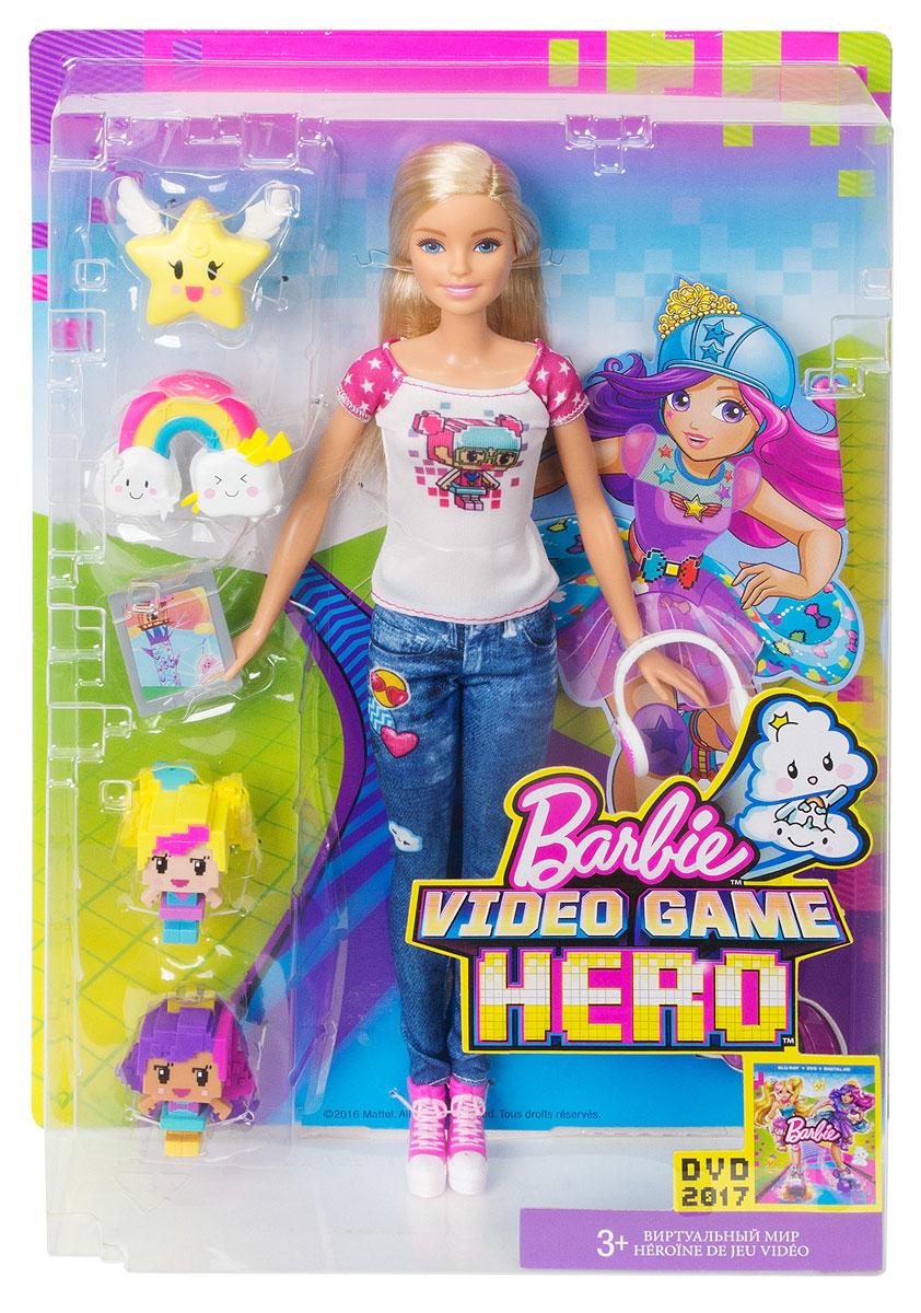 Barbie Кукла Виртуальный мир цвет одежды джинсовый белый