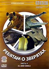 BBC: Ребятам о зверятах. Часть 4Гигантская выдра Оскар Амазонские выдры настоящие гиганты. Это самые крупные выдры в мире и безусловно самые общительные. Они живут и охотятся большими стаями. За это амазонских выдр прозвали речными волками. Нильский крокодил Карл Всего неделю назад Карл вылупился из яйца. Пока, что он совсем малыш. У Карла к 30 братьев и сестер, вместе с мамой они живут в замбийской реке Луангава. Через пять недель Карл вырастет и окрепнет достаточно, чтобы начать самостоятельную жизнь. Бородавочник Уолли Маленькому Уолли всего 2 недели. Но он растет очень быстро. Вместе со своими братьями и сестрами Уолли живет в большой норе. Он уже готов выбраться наружу - в большую африканскую саванну. Императорский пингвин Питер Питер живет в Антарктиде - это самое холодное место на нашей планете. Он родился в колонии императорских пингвинов - самых крупных пингвинов на Земле. Колония Питера насчитывает 25 тысяч особей. Пингвины не умеют летать, но зато...