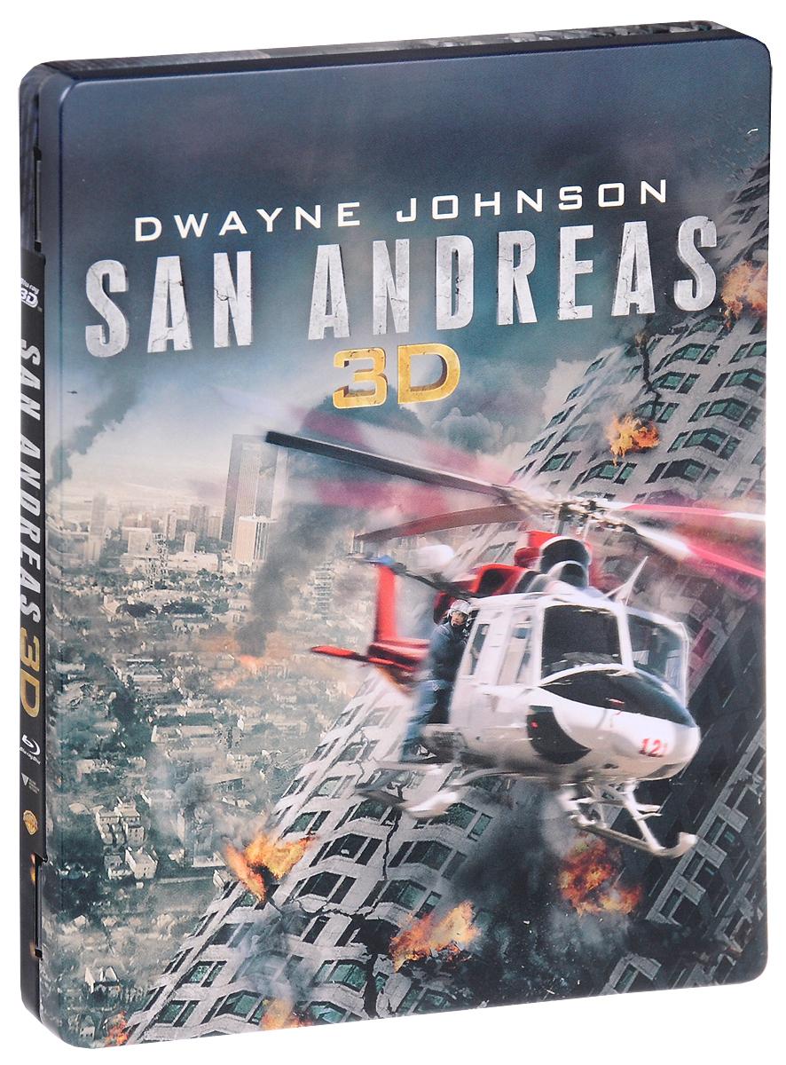 Разлом Сан-Андреас 3D и 2D (Blu-ray) 2015 2 Blu-ray