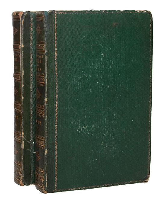 Рейн. В 2 томах (комплект)620_желтый, синийЛондон, 1832 год. Tombleson & Co. Владельческие переплёты с золотым тиснением. Крапчатый круговой обрез. С картой. 141 гравюра своего времени. Сохранность хорошая. Экслибрисы на форзацах. Рейн протекает в самой романтической и самой исторической части Европы. Река, чьи воды были так часто окрашиваемы кровью победителей и проигравших. Авторы настоящего издания собрали легенды и сказания, связанные с окрестностями этой реки. Использование большого количества гравюр в тексте поможет читателю совершить настоящее путешествие по берегам истории. Издание не подлежит вывозу за пределы Российской Федерации.