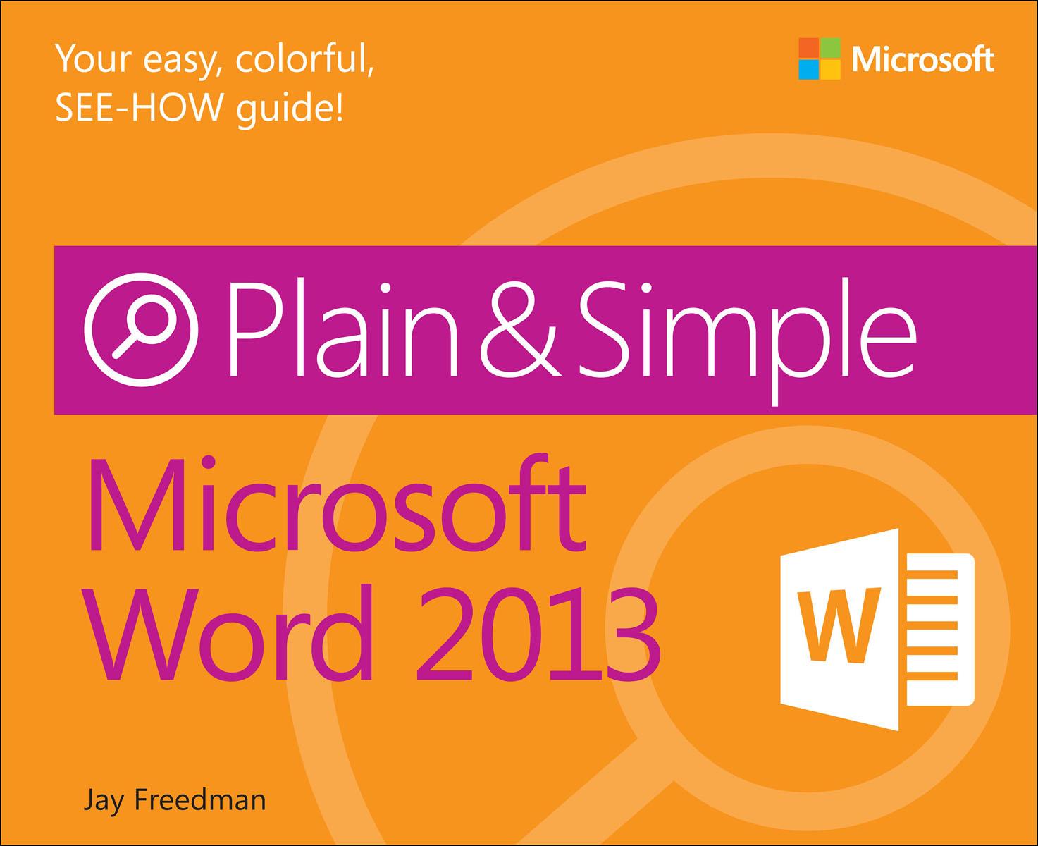 Freedman Microsoft Word 2013 Plain & Simple