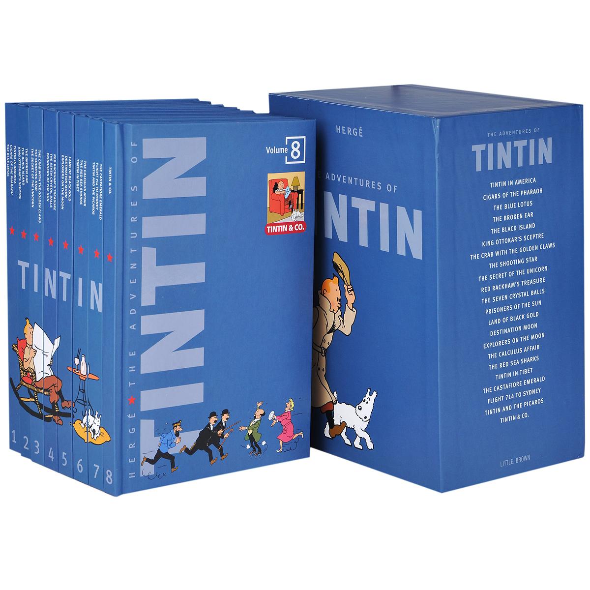 Herge. The Adventures of Tintin (комплект из 8 книг)