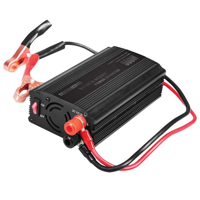Redmond RIA-5012 инвертор автомобильныйA80683SАвтомобильный инвертор Redmond RIA-5012 - уникальный прибор, позволяющий использовать привычнуюбытовую технику в дороге и путешествии. Он совместим с любыми электроприборами номинальной мощностью до400 Вт. Не требует переходников и абсолютно безопасен даже при длительном использовании.Выходное напряжение: 220 ВВыходная мощность (номинальная): 500 ВтМощность подключаемых приборов: до 400 Вт Выходное напряжение порта USB: 5 ВПредохранители: 2 х 30 АВыходная эффективность 90,5% Выходной сигнал: модифицированная синусоида 2 соединительных провода по 2 метра Выходы: универсальная евророзетка, USB-порт Принудительное охлаждение