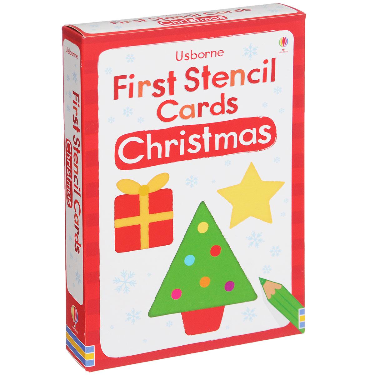 Christmas: First Stencil Cards (набор из 12 карточек)